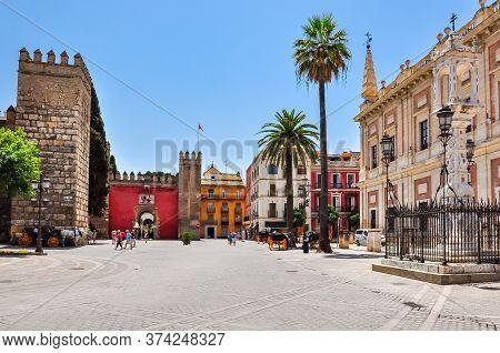 Triumph Square (plaza Del Triumfo), Seville, Spain