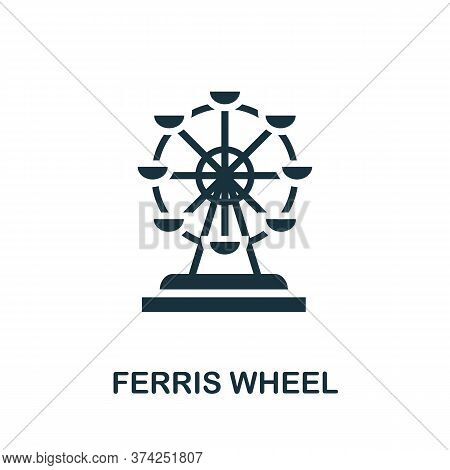 Ferris Wheel Icon. Simple Element From Amusement Park Collection. Creative Ferris Wheel Icon For Web