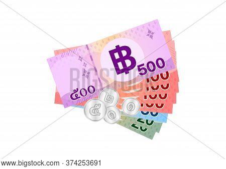 999 Baht Thai Banknote Money, Thai Currency Nine Hundred Ninety Nine Thb, Bank Note Money Thailand B