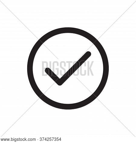 Check Icon Isolated On White Background. Check Icon In Trendy Design Style For Web Site And Mobile A