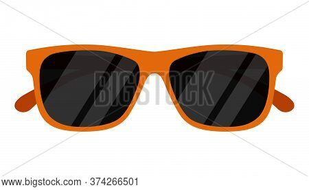 Sunglasses Icon Isolated On White Background. Vector Illustration