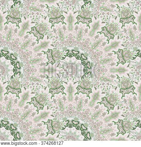 Chakra Flower Seamless Pattern. Asian Ethnic Vector Graphic Design. Weave Arabesque Peacock Geometri