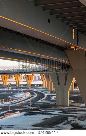 The Western High-speed Diameter Is A Toll Motorway In Saint Petersburg, Russia