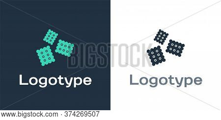 Logotype Cracker Biscuit Icon Isolated On White Background. Sweet Cookie. Logo Design Template Eleme