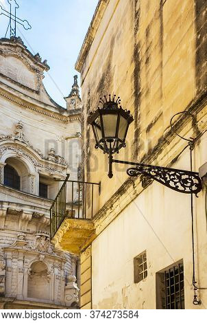 Lecce Apulia Italy On October 14, 2019 At The Church Of San Matteo On Via Dei Perroni