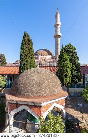 Suleman Mosque In Rhodes Fortress In Greece