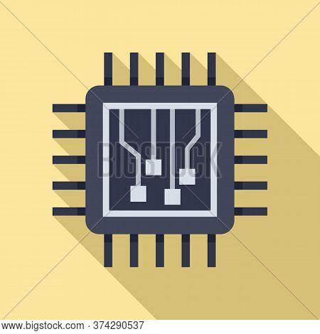 Machine Learning Processor Icon. Flat Illustration Of Machine Learning Processor Vector Icon For Web