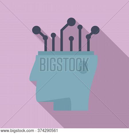 Ai Automatic Brain Icon. Flat Illustration Of Ai Automatic Brain Vector Icon For Web Design