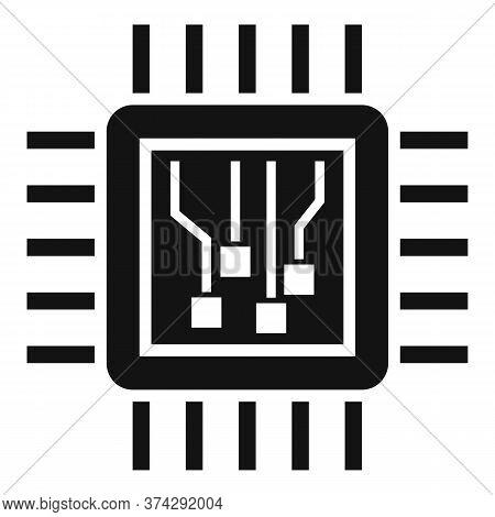Machine Learning Processor Icon. Simple Illustration Of Machine Learning Processor Vector Icon For W
