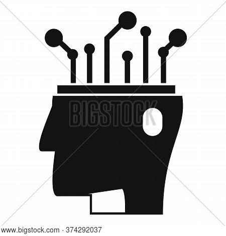 Ai Automatic Brain Icon. Simple Illustration Of Ai Automatic Brain Vector Icon For Web Design Isolat