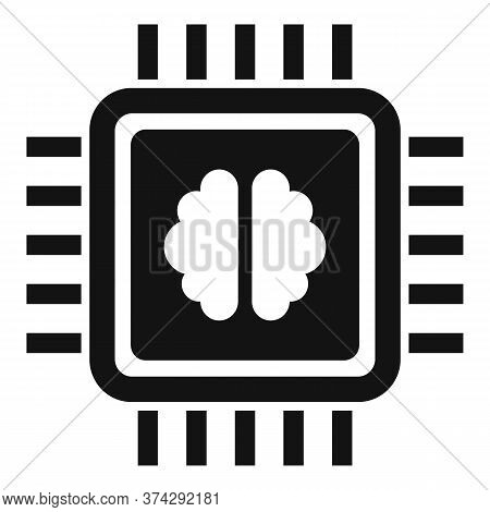 Brain Ai Processor Icon. Simple Illustration Of Brain Ai Processor Vector Icon For Web Design Isolat