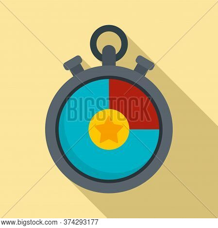 Video Game Stopwatch Icon. Flat Illustration Of Video Game Stopwatch Vector Icon For Web Design