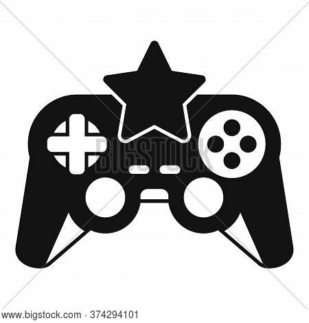 Star Video Game Joystick Icon. Simple Illustration Of Star Video Game Joystick Vector Icon For Web D