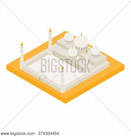 Grand Mosque Icon. Isometric Illustration Of Grand Mosque Vector Icon For Web