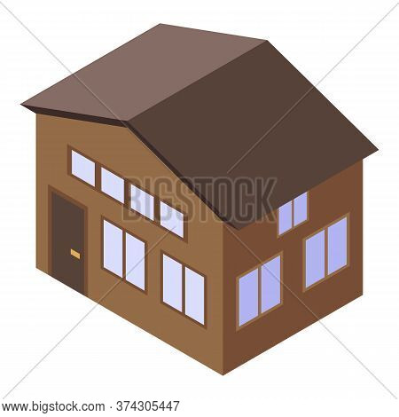 Broker House Icon. Isometric Of Broker House Vector Icon For Web Design Isolated On White Background
