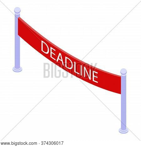 Deadline Start Banner Icon. Isometric Of Deadline Start Banner Vector Icon For Web Design Isolated O