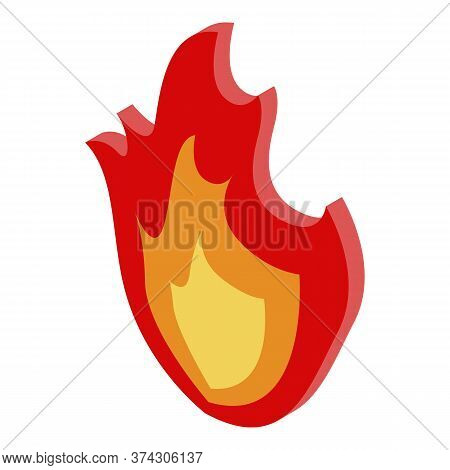 Deadline Campfire Icon. Isometric Of Deadline Campfire Vector Icon For Web Design Isolated On White