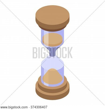 Deadline Hourglass Icon. Isometric Of Deadline Hourglass Vector Icon For Web Design Isolated On Whit