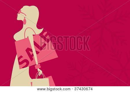 Christmas Sale Girl