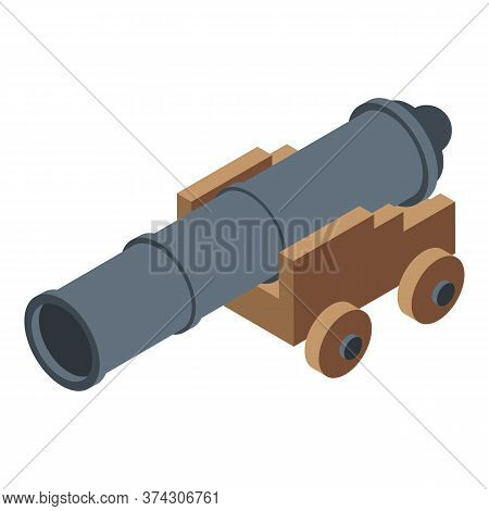 Trade War Cannon Icon. Isometric Of Trade War Cannon Vector Icon For Web Design Isolated On White Ba