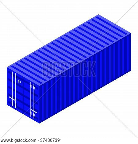 Trade War Cargo Container Icon. Isometric Of Trade War Cargo Container Vector Icon For Web Design Is