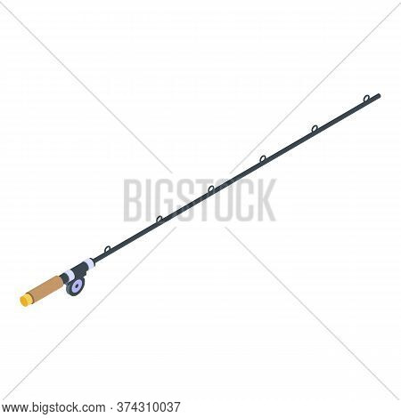 Scandinavian Fishing Rod Icon. Isometric Of Scandinavian Fishing Rod Vector Icon For Web Design Isol