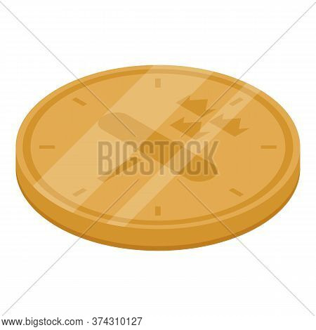 Sweden Gold Coin Icon. Isometric Of Sweden Gold Coin Vector Icon For Web Design Isolated On White Ba