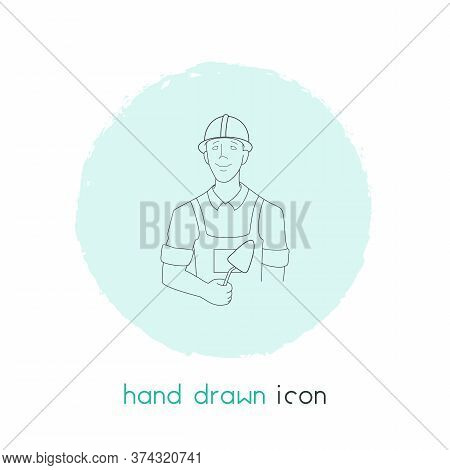 Builder Icon Line Element. Vector Illustration Of Builder Icon Line Isolated On Clean Background For