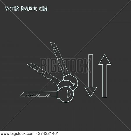 Sort Keywords Icon Line Element. Vector Illustration Of Sort Keywords Icon Line Isolated On Clean Ba