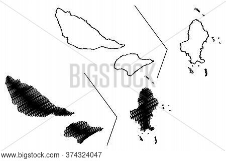 Wallis And Futuna Island (france, French Republic, Overseas Collectivity) Map Vector Illustration, S