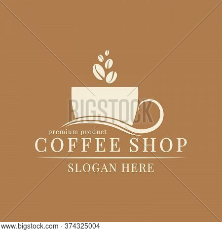 Logo Template For A Coffee Shop, Restaurant Or Cafe. Emblems, Badges, Stickers, Banners. Coffee Desi