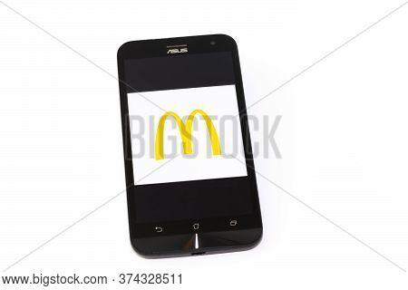 Kouvola, Finland - 23 January 2020: Mcdonalds App Logo On The Screen Of Smartphone Asus