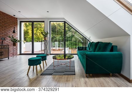 Stylish Attic Living Room