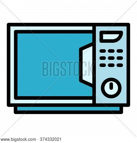 Kitchen Microwave Icon. Outline Kitchen Microwave Vector Icon For Web Design Isolated On White Backg