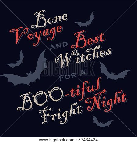 humorous halloween greetings (vector)