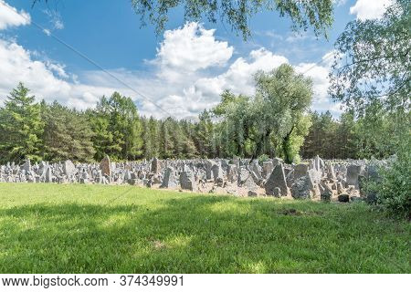 Wolka Okraglik, Poland - June 2, 2020: Nazi German Extermination Camp In Occupied Poland During Worl