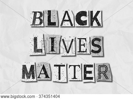 A Black And White Colored Black Lives Matter Blm Background Grunge Collage Graphic Illustration To R