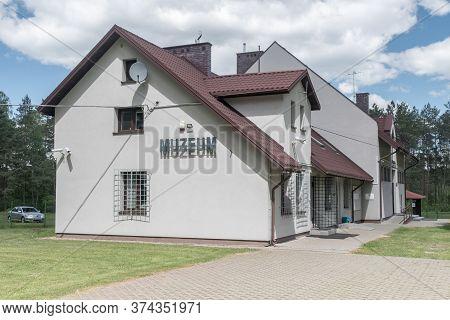 Wolka Okraglik, Poland - June 2, 2020: Office Of Treblinka Museum, The Nazi German Extermination And