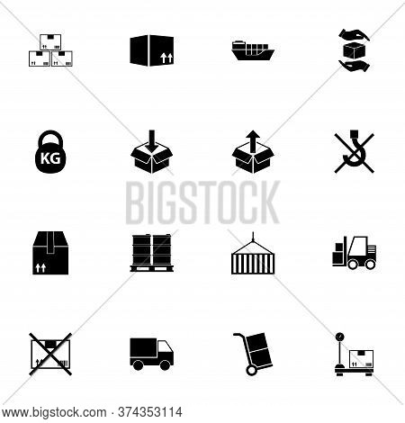 Cargo, Freight Icon - Expand To Any Size - Change To Any Colour. Perfect Flat Vector Contains Such I
