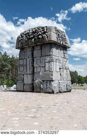 Wolka Okraglik, Poland - June 2, 2020: Treblinka Memorial In Nazi German Extermination Camp.