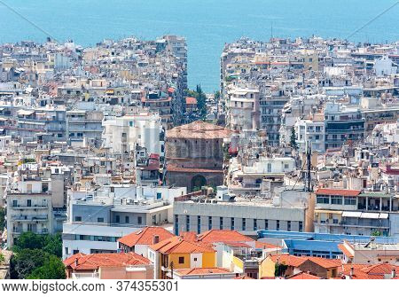 Cityscape Of Thessaloniki Town In Greece In Summer