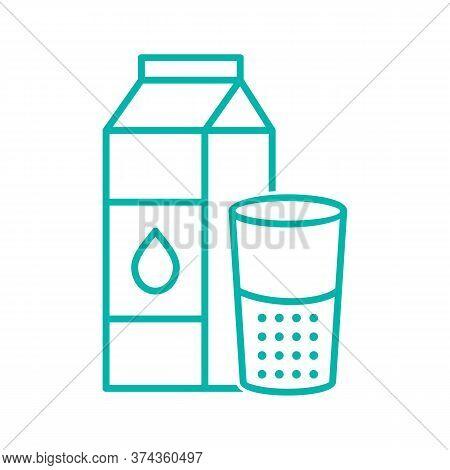 Black Line Icon For Milk Oil Beverage Product Packaging Bottle Breakfast Calcium Energy Fresh Health