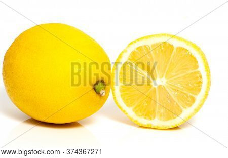 Lemon isolated on a light background