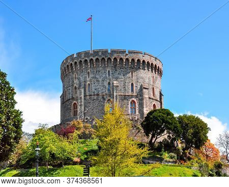Walls And Towers Of Windsor Castle, London, United Kingdom