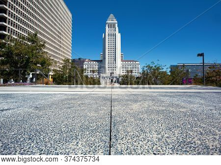Los Angeles City Hall Building In Downtown Los Angeles