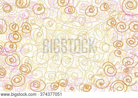 Abstract Line Drawing Pattern From Imagine On White Background.