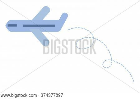 Plane Icon In Flat Style. Travel The World Concept. Vector Illustration Isolated On A White Backgrou