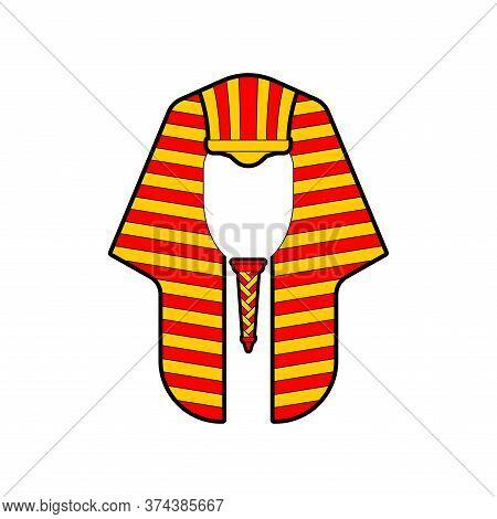 Nemes Isolated. Pharaoh Hat. Klaft - Royal Headdress In Ancient Egypt