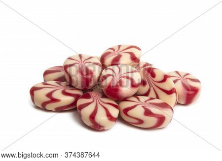 Lollipops Sugary Candy Isolated On White Background