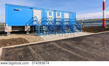 Electrical Transformer Substation At An Industrial Facility Under Construction